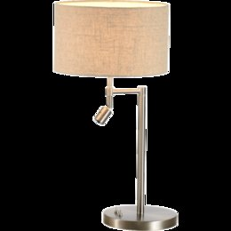 Wholesale Led Stainless Table Lamps - Modern Brief Linen Lampshade Desk Lamps E27 Holder Table Lamp Beige Gray Indoor Lights for Restaurant Bedroom Decor Lights