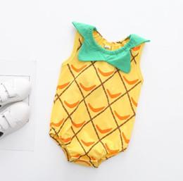Canada Bébé Pirnt Barboteuses 11 Modèles Garçon Filles Ours Ananas Bee Nouveau-Né Infant Bébé Bébés Garçons Été Vêtements Jumpsuit Playsuits 3-18 M Offre
