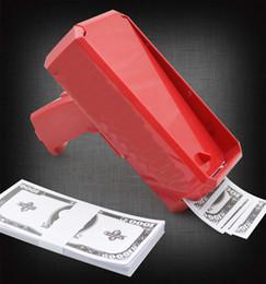 logotipos de dinheiro Desconto Caixa canhão dinheiro Gun Brinquedos Moda descompressão Brinquedos fazer chover dinheiro Toy Guns Com logotipo dos miúdos Brinquedos Atacado LA710