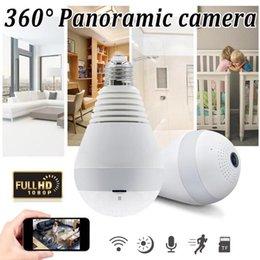 проволока для мини-кулачков Скидка Wi-fi лампочка камеры безопасности 2MP 1080P 360° панорамное наблюдение главная камера безопасности системы беспроводной IP CCTV baby monitor камера