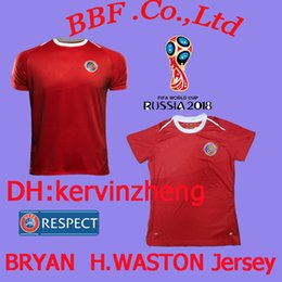 8f3a36119 Thailand Soccer Jerseys 2018 World Cup Costa Rica BRYAN H.WASTON M.URENA 18 19  Costa Rica jerseyss Camisa de futebol maillot Football Shirts