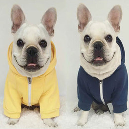 Wholesale Qiu Dong Jacket - bugs bulldog France Great Britain clothing Small and medium-sized dog Qiu dong outfit The dog dog hoodie The puppy teddy Pet clothing