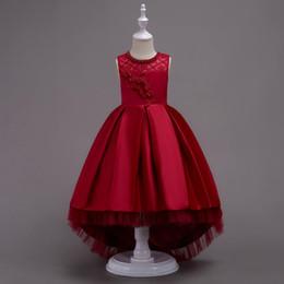 Deutschland Designer Mädchen Party Kleider Bogen Baby Mädchen Kleider Solo Piano Kostüm Ballkleider Kinder Kleidung Lace Floral Sleeveless Girl Abendkleider Versorgung