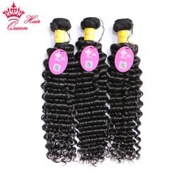 """Kraliçe Saç Şirketi Perulu Derin Dalga 3 Demetleri Anlaşma 100% Doğal İnsan Saç Örgüleri Bakire Saç Demetleri Uzun Mix Can 10 """"-30"""" nereden rosa saç ürünleri peru vücut dalgası tedarikçiler"""