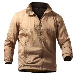 Chaqueta ligera táctica de la piel de los hombres de verano respirable portátil chaqueta impermeable del ejército chaquetas finas S-5XL desde fabricantes