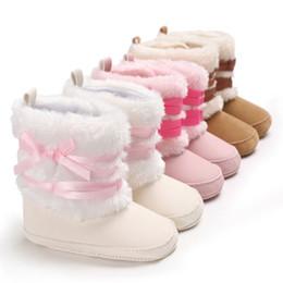 63e0233f4309c New Winter Style Thick Warm Fur Boot Kid Baby Boy Girls Plush Snow Boots  Crib Shoes Children Warm Prewalker Booties 0-18M girl snow warm boots on  sale