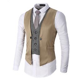 gilet homme Promotion Hommes Suit Vest S-3XL 2017 Nouveau gilet décontracté à manches cardigan code oversize veste décontractée treillis se battre couleur hommes