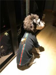 Argentina Venta caliente sudaderas para perros marca Tide Teddy Schnauzer Outwear Hip Hop Beaf Impreso Teddy Apparel perro pequeño cachorro sudaderas Outwear ropa Suministro