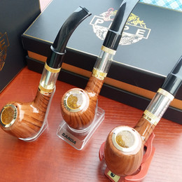 Wholesale 618 Atomizer - Electronic Cigarette ePipe 618 Kit Ewinvape E pipe 618 electronic smoking pipe with wooden mod 2.5ml atomizer 18350 battery