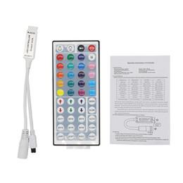 Controlador 44key ir on-line-Edison2011 DC12V 6A Mini 44Key IR Controle Remoto para 3528 5050 SMD RGB LED Light Strip