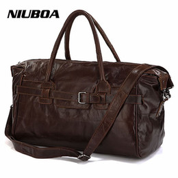 f7b71801ab44a vintage leder duffle taschen männer Rabatt NIUBOA Vintage Echtem Leder  Reisetasche Männer Weiche Echte Leder Seesäcke