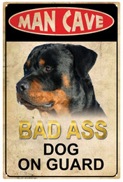 Wholesale Wholesale Man Cave - all best man cave bad ass dog on guard here sinclair motor oil Vintage Tin Signs Retro Metal Sign Painting Decor The Wall Mixed designs