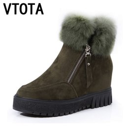 457f46ade06 VTOTA Snow Boots Women Winter Boots Fashion Warm Casual Ankle Boots For Women  Wedges Shoes Fur Platform Shoes Woman Botas E53