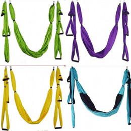 Swing aereo online-Air Flying Yoga Amaca Yoga Hammocks Cintura Fitness Swing Indoor Outdoor Cinture robuste per il fitness sano 75sh dZ