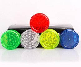 Wholesale Wholesale Smoking Spice - 2018 60mm 3 piece colorful plastic herb grinder for smoking pipe tobacco spice grinder with 5 color chaep smoking pipes grinders