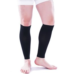 61d5fff467 23-32 mmHg Medical Varicose Veins Calf Sleeve Socks Unisex Circulation Compression  Stockings open toe Travel Flight