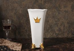 einfache wohnmöbel Rabatt Mesa vase einfache Europäische wohnzimmer möbel kreative marmorierung blume flasche dekoration wasserkanne pepe Edle vergoldung vase Kostenloser Versand