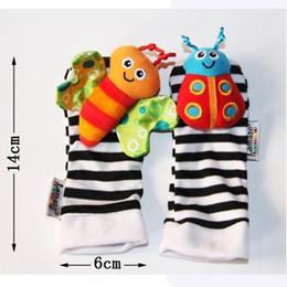 2019 jouets à chatte de bébé lamaze Hot vente sozzy poignet hochet pied finder bébé jouets bébé hochet chaussettes Lamaze peluche poignet hochet + pied bébé chaussettes 1000 pcs STY094 jouets à chatte de bébé lamaze pas cher