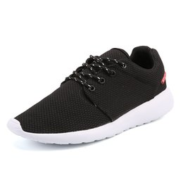 Wholesale Korean Shoes Boots - Hot sale Classical Men Black Low Boots Lightweight Breathable Mesh London Olympic Sports Trainers Korean Fashion Casual Shoes 39-45