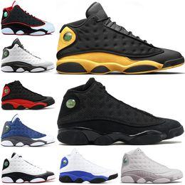 Retro Air Jordan 13 AJ13 Chaussure de basket pas cher baskets Melo 13s de  race Chicago élevées de chaussures de sport de chat noir chaussures de sport  de ... 19e4ebb06