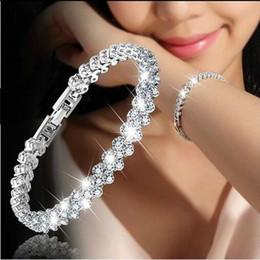 3 couleur femmes mode style romain femme en argent Sterling 925 Cristal Diamant Bracelets Cadeaux ? partir de fabricateur