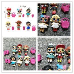 Cestas de presente bebês on-line-6 Pçs / lote LoL Boneca 8 cm com mamadeira cesta de alta qualidade bonecas lol figura de ação do bebê brinquedos meninas presente
