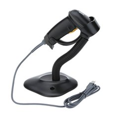 2019 soporte de código 2017 escáner al por mayor de alta calidad por cable Escáner de código unidimensional con stent automático de pistola de escaneo continuo USB + Stand rebajas soporte de código