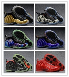 Wholesale Men Boots Shoes Online - Cheap On Sale Basketball Shoes Men High Cut Mens Designs Trainers designer Penny Hardaway Red Suede Volt White Black Sneakers Online