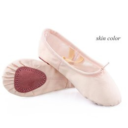 b6b78f96f7fd ivory ballerina shoes Promo Codes - Pink Black Camel Nude Girls Ballerina  Dancewear Professional Ballet Slippers