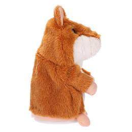 Canada Parler Enregistrement Hamster Éducatif En Peluche Jouet Mignon Bébé Électronique Animaux En Peluche Poupées Son Record Parlant Hamster Parler Jouet supplier electronic talking Offre