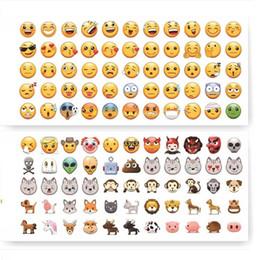 decoraciones de teléfonos móviles Rebajas Venta caliente de dibujos animados Emoji etiqueta encantadora Android decoración del teléfono móvil etiqueta Inicio Muebles wallpaper pasta T3I0110