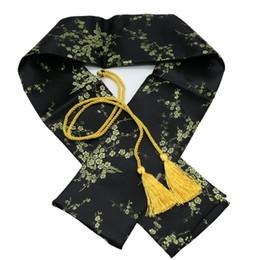 "Fiore di prugna nera online-51 ""Silk Plum Blossom Katana Wakizashi Tanto Samurai giapponese Sword Bag Black"
