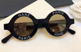 Wholesale smallest round men sunglasses - The Latest Fashion Designer Sunglasses 01945 Round Letters Small Frame Top Quality Avant-Garde Popular Style UV400 Protection Eyewear