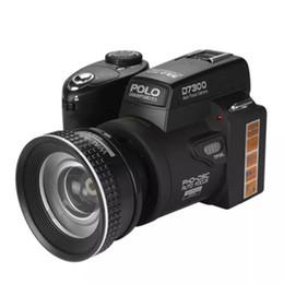 Cámara de tiempos online-POLO D7300 Cámara digital HD1080P 3.0LCD Zoom óptico 24 veces 33 millones de píxeles, luz complementaria de 3 modos, marco de tres pies