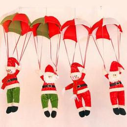 decorazioni pupazzo farcite Sconti 4 Stili Albero di Natale Appeso Decor Paracadute Pupazzo di Neve Babbo natale Bambola Farcito Ciondolo Ornamenti Decorazioni Regalo di Natale CCA10553 20 pz
