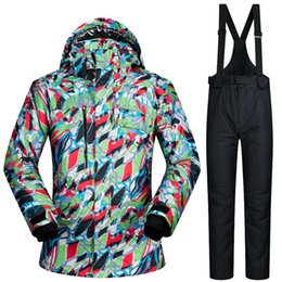 Wholesale Snow Jackets For Men - Wholesale- 30 DEGREES mens ski suits thermal skiing jacket + pant men snow suit snowboard wear winter ski clothing set for male