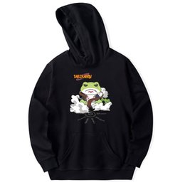 Wholesale Japanese Mens Hoodies - Frdun Tommy Travel Frog COS NARUTO Japanese Game Hoodies Sweatshirts Women Mens Hoodies Sweatshirt Popular Black White Clothes