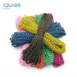 Wholesale Core 15 - Paracord 2mm 50 Ft 15 Meters One Stand Cores Paracord Rope Cuerda Escalada Paracorde Bracelets Paracord Cord For Jewelry Making