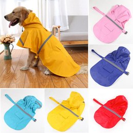 Wholesale Raincoat Dog Red - Pet Dog Rain Jacket Raincoat Waterproof with Reflective Strip Large Dog Raincoat Leisure Pet Clothes Puppy Cat AAA104