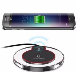 Deutschland Neue schnelle schnelle acryl qi drahtlose ladegeräte q7 k9 sender lade für samsung apple handy 5 v 2a wireless empfänger Versorgung