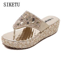 4801e3b56 sapatos de praia feminino Desconto SIKETU mulher verão chinelos de diamante inclinações  moda chinelos das mulheres