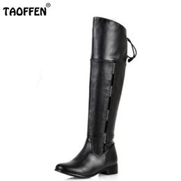 450c99650597 size 34-47 women flat over knee boots ladies riding fashion long snow boot  warm winter brand botas footwear shoes P1316