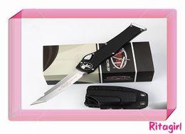 Wholesale survival tech - NEW Micro MT tech knives Halo V halo VI Knife Tanto Edge single action Automatic knife Tactical knife Survival gear knives A07 C07 616