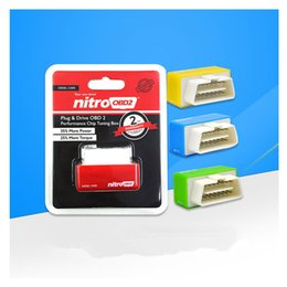 Wholesale nitro powered cars - NitroOBD2 Gasoline Benzine Cars Chip Tuning Box More Power & Torque Nitro OBD2 Plug and Drive Nitro OBD2 Tool