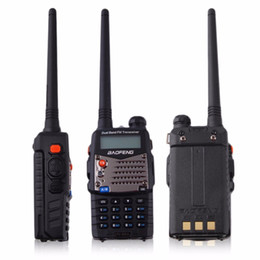Wholesale Receiver Transceiver - Walkie-talkie Baofeng Hand-held Transceiver FM Radio Receiver Walkie-talkie Interphone Scanner Dual Band EU Plug Dual-Standby