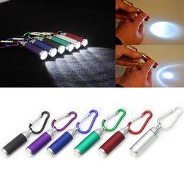 2020 lanterna brilhante Portátil Mini Lanterna LED Zoom Telescópica Camping Handy Da Tocha Da Lâmpada KeyChain Flash de Luz Ultra Brilhante 6 Cores Do Carro lanterna brilhante barato