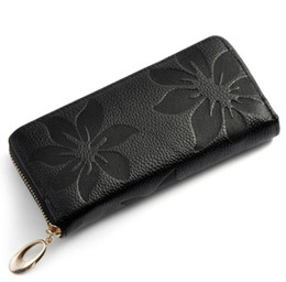 Длинный кошелек онлайн-Ms продано 2018 Мода глава слой воловьей кожи бумажник длинный мешок руки производители продают кожаный женский продан мой кошелек