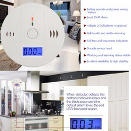 Wholesale Fire Carbon - CO Carbon Monoxide Detector Alarm System Suitable Home Security Poisoning Smoke Gas Sensor LCD 85dB Smoke Detector Fire Alarm