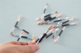 Wholesale disposable eyeshadow brushes - Fashion 2000Pcs Cosmetic Brushes Women Makeup Eyeshadow Eyeliner Sponge Lip Brush Set Applicator Beauty Double-Ended Disposable