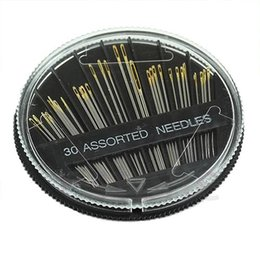 Wholesale Sewing Box Kits - DIY Hand Needle Assorted Sewing Kit Set Tool Per Pack of Needle Round Box Wholesale Retail 30PCS Assorted Hand Sewing Needles